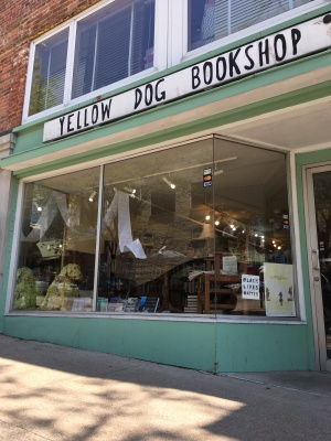 "The book, ""From Melon Fields to Moon Rocks"", now for sale at Yellow Dog Bookshop on Ninth Street, Columbia, Missouri."